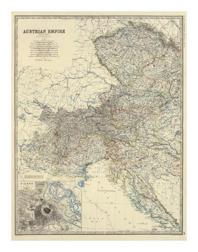 Austria West, c.1861-Alexander Keith Johnston-Art Print