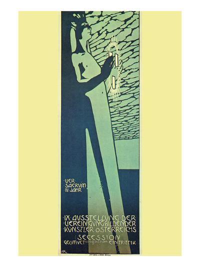 Austrian Art Exhibition-Alphonse Mucha-Art Print
