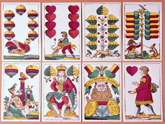Austrian fortune-telling cards-Unknown-Giclee Print