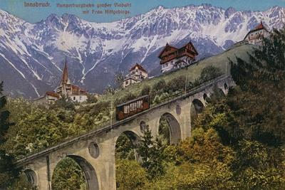 Innsbruck - Funicular Railway and Viaduct. Postcard Sent in 1913