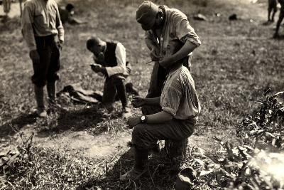 Austrian Prisoners During World War I in Bagnaria Arsa-Ugo Ojetti-Photographic Print