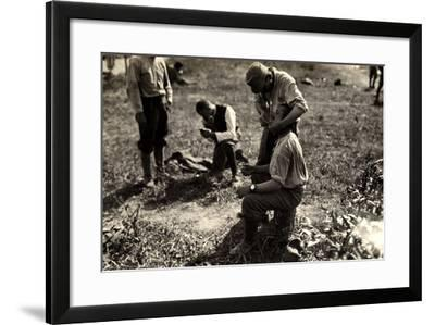Austrian Prisoners During World War I in Bagnaria Arsa-Ugo Ojetti-Framed Photographic Print