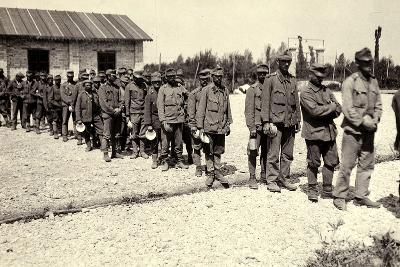 Austrian Prisoners in Bagnaria Arsa During World War I-Ugo Ojetti-Photographic Print