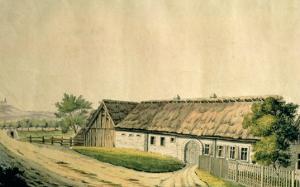 The Birthplace of Franz Joseph Haydn by Austrian School