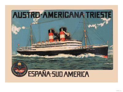 Austro-Americana Trieste Cruise Line--Art Print
