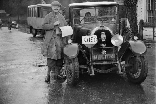 Austro-Daimler used as an officials car at the Inter-Varsity Trial, 1930-Bill Brunell-Photographic Print