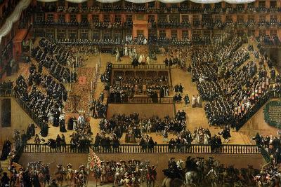 Auto de Fe in the Plaza Mayor, Madrid, 1683-Francisco Rizi Or Ricci-Giclee Print