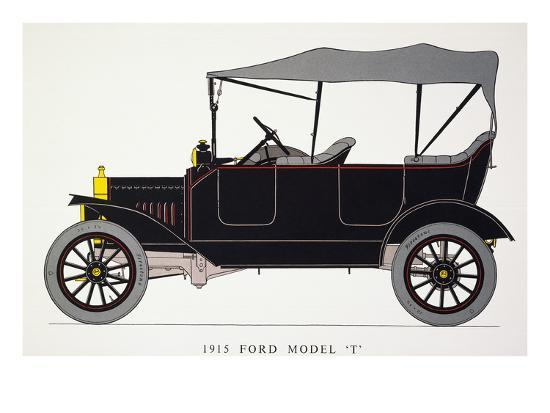 Auto: Model T Ford, 1915--Giclee Print