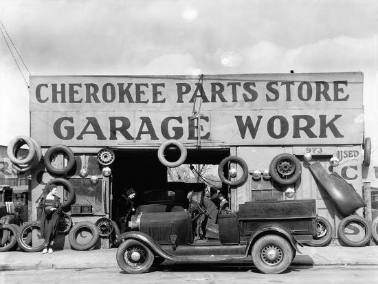 Auto parts shop  Atlanta, Georgia, 1936 Photographic Print by Walker Evans  | Art com