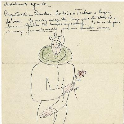 Autograph Letter to Melchor Fernandez Alamgro, Granada, Late January 1926-Federico Garcia Lorca-Giclee Print