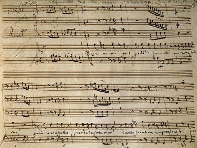 Autograph Music Score of Cain and Abel-Leonardo Leo-Giclee Print
