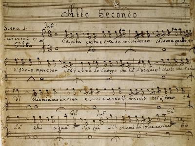 Autograph Music Score of the Second Act of the Opera the Chinese Idol, 1767-Giovanni Paisiello-Giclee Print