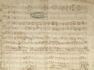"""Autograph Score for Patriotic Hymn """"Bell'Italia Ormai Ti Desta""""--Giclee Print"""
