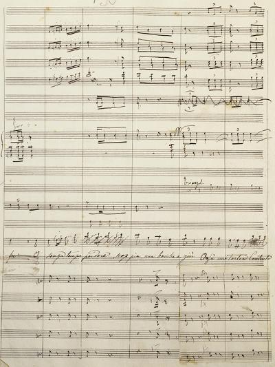 Autograph Sheet Music of Act I of Gina, Opera by Francesco Cilea--Giclee Print