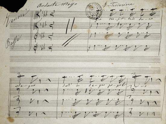 Autograph Sheet Music of Seven Last Words of Our Lord, 1856-Saverio Mercadante-Giclee Print