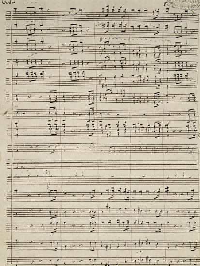 Autograph Sheet Music of Suite of La Marcia--Giclee Print