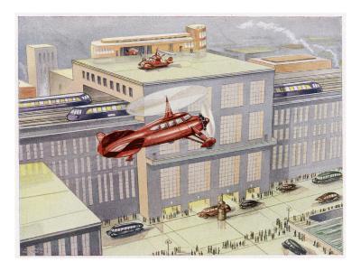 Autogyro Landing Pad--Giclee Print