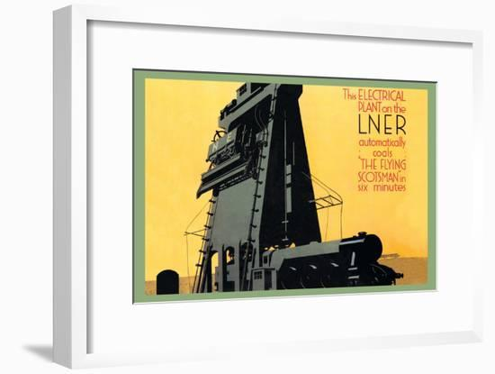 Automatic Coal in Six Minutes, The Flying Scotsman--Framed Art Print