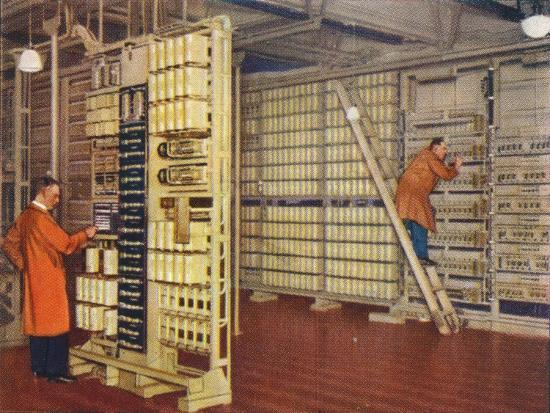 Automatic telephone exchange, 1938-Unknown-Giclee Print