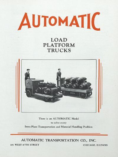 Automatic Transportation Company's Load Platform Trucks--Giclee Print
