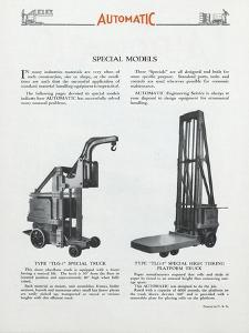 Automatic Transportation Company's Special Models of Automatic Units