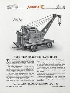 Automatic Transportation Company's Type Ceg Revolving Crane Truck