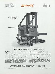 Automatic Transportation Company's Type Tlg- 5 Tiering Lifting Truck