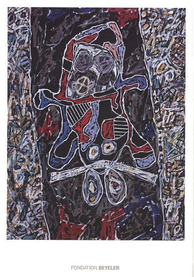 Automobile a la route noire-Jean Dubuffet-Art Print