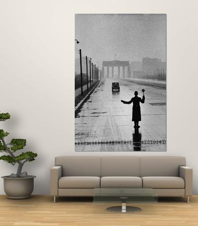 Automobile Arriving from the Eastern Sector of Berlin Being Halted by West Berlin Police-Ralph Crane-Wall Mural