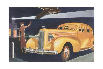 Automobile at the Airport--Giclee Print