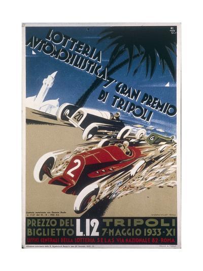 Automobile Lottery, Seventh Tripoli Grand Prix, May 7, 1933--Giclee Print