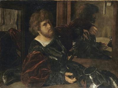 Autoportrait, dit autrefois portrait de Gaston de Foix-Giovanni Girolamo Savoldo-Giclee Print