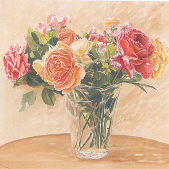 Autour d'Un Bouquet II-Laurence David-Art Print