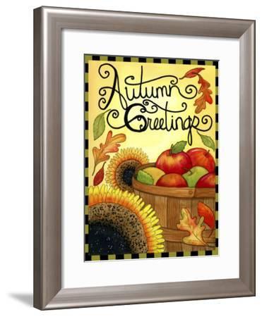 Autumn Apple Basket-Jennifer Nilsson-Framed Giclee Print