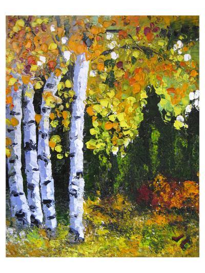 Autumn Aspen II--Art Print