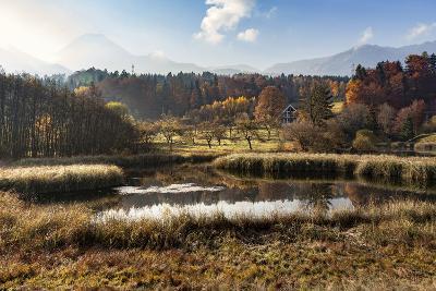Autumn at Aichwaldsee-Simone Wunderlich-Photographic Print