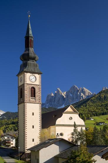 Autumn at Sant Jakob Church, San Pietro, Trentino-Alto-Adige, Italy-Brian Jannsen-Photographic Print