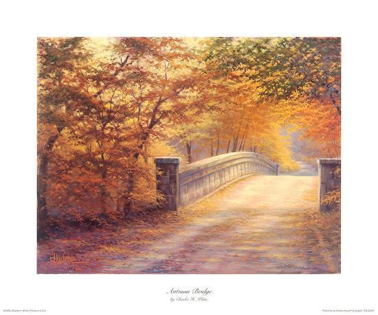Autumn Bridge-Charles White-Art Print