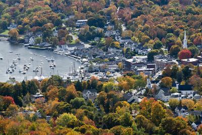 Autumn, Camden Harbor, Camden, Maine, from Mount Battie State Park-Michel Hersen-Photographic Print