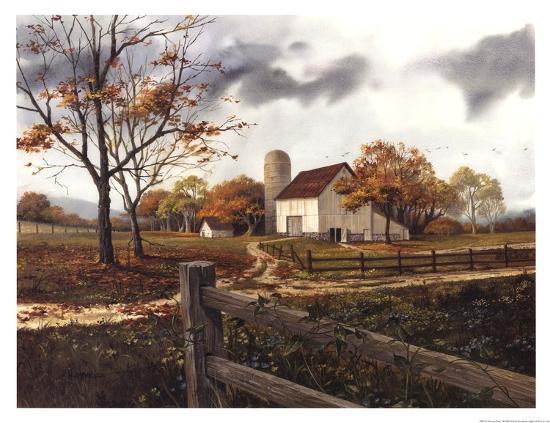 Autumn Cascade - Autumn Barn-Michael Humphries-Art Print