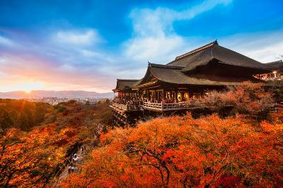 Autumn Color at Kiyomizu-Dera Temple in Kyoto, Japan-Luciano Mortula - LGM-Photographic Print