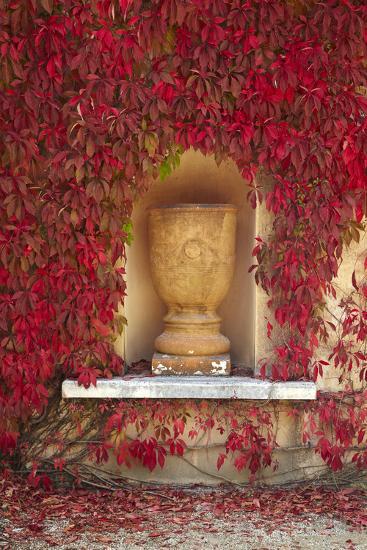 Autumn Color at the Italian Renaissance Garden, Hamilton, Waikato, North Island, New Zealand-David Wall-Photographic Print