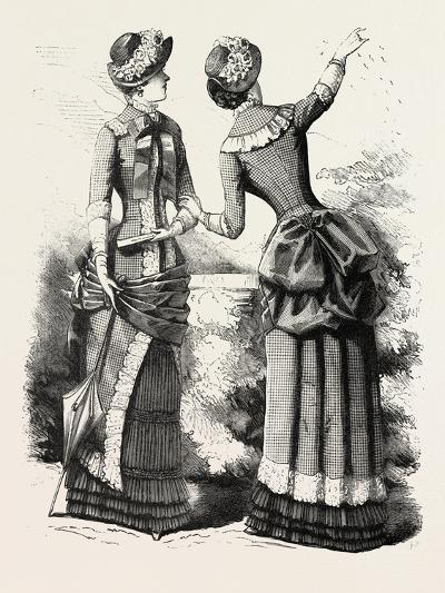 Autumn Costume Front and Back, Fashion, 1882--Giclee Print