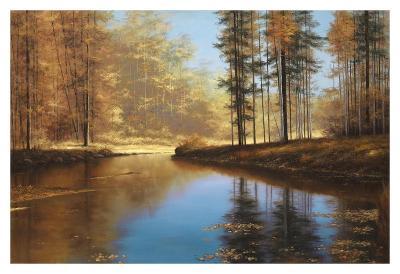 Autumn Creek-Diane Romanello-Art Print