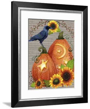 Autumn Crow Scene-Jennifer Nilsson-Framed Giclee Print