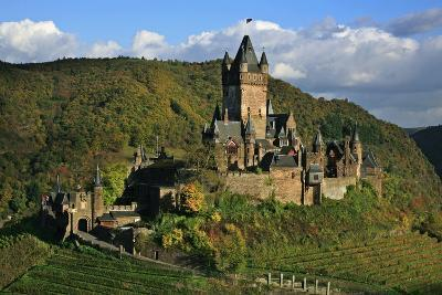 Autumn Day at the Imperial Castle Near Cochem on the Moselle-Uwe Steffens-Photographic Print