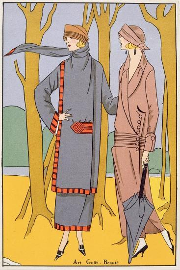 Autumn Days, Fashion Plate from 'Art, Gout, Beaute', Pub. Paris, 1920'S--Giclee Print
