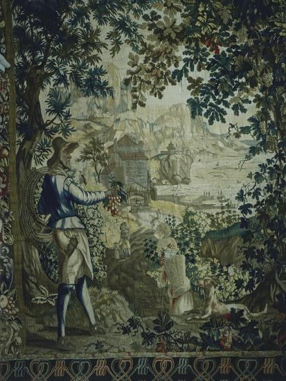 Autumn, Detail of 18th Century Gobelins Tapestry Depicting the Seasons--Giclee Print
