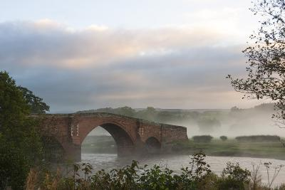 Autumn, Early Morning, Eden Bridge, Lazonby, Eden Valley, Cumbria, England, United Kingdom, Europe-James Emmerson-Photographic Print