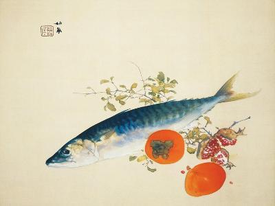Autumn Fattens Fish and Ripens Wild Fruits, 1925-Takeuchi Seiho-Giclee Print